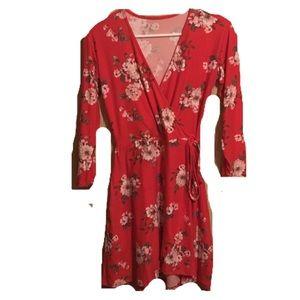 NWOT Anthropologie Faux Wrap Floral Dress
